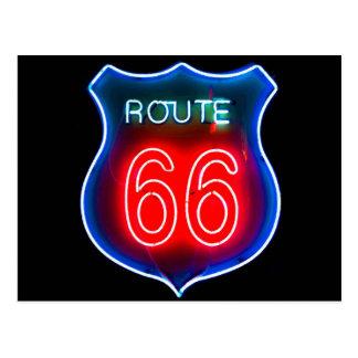 Neonzeichen des weg-66 postkarten