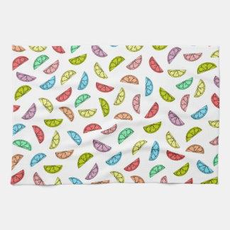 Neonzitrusfrucht-Muster-Geschirrtuch Küchentuch