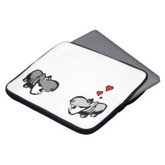 Neopren-Laptop-Hülse 15 Zoll - Flusspferd in der Laptop Schutzhülle