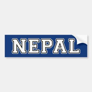 Nepal Autoaufkleber