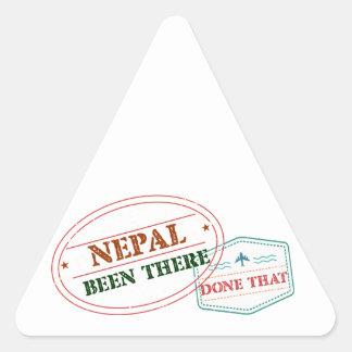 Nepal dort getan dem dreieckiger aufkleber