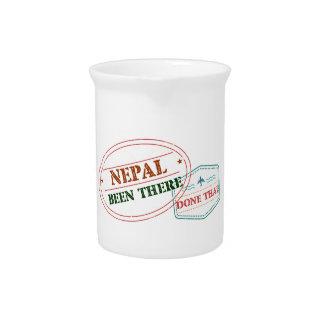 Nepal dort getan dem getränke pitcher