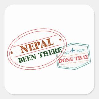 Nepal dort getan dem quadratischer aufkleber