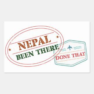 Nepal dort getan dem rechteckiger aufkleber