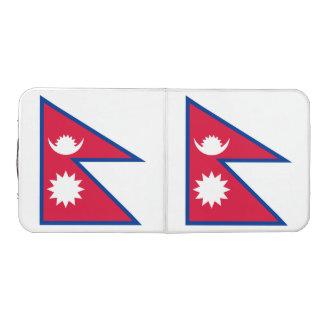 Nepal-Flagge Beer Pong Tisch