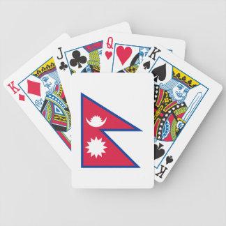 Nepal-Flagge Bicycle Spielkarten