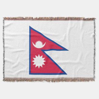 Nepal-Flagge Decke