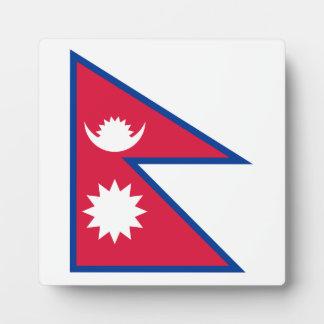Nepal-Flagge Fotoplatte
