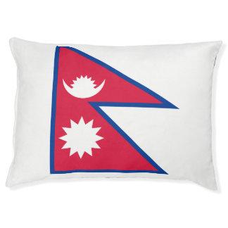 Nepal-Flagge Haustierbett