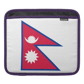 Nepal-Flagge iPad Sleeve