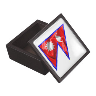Nepal-Flagge Kiste