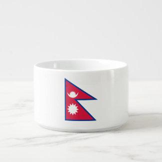 Nepal-Flagge Kleine Suppentasse