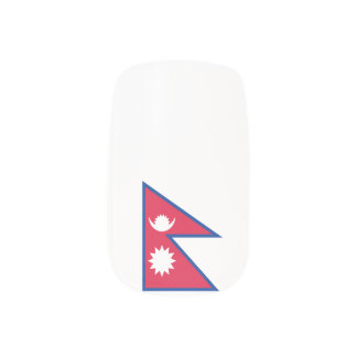 Nepal-Flagge Minx Nagelkunst