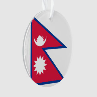 Nepal-Flagge Ornament