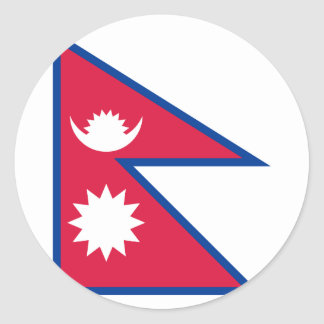 Nepal-Flagge Runder Aufkleber