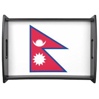 Nepal-Flagge Tablett