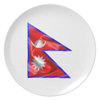 Nepal-Flagge Teller