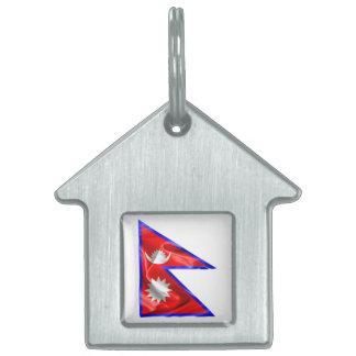 Nepal-Flagge Tiermarke