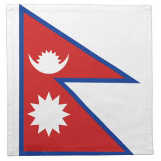 Nepal-Flaggen-Serviette Serviette