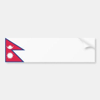 Nepal/nepalesische Flagge Autoaufkleber