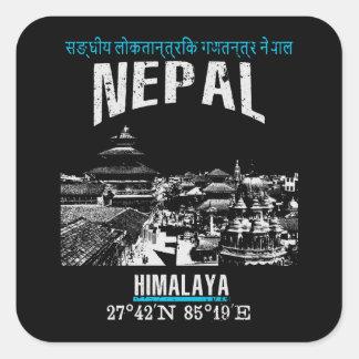Nepal Quadratischer Aufkleber