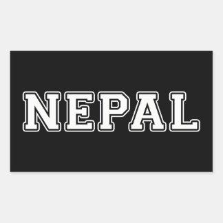 Nepal Rechteckiger Aufkleber