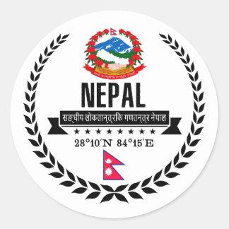 Nepal Runder Aufkleber