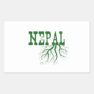 Nepal-Wurzeln Rechteckiger Aufkleber