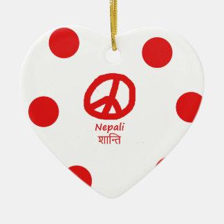 Nepali-Sprache und Friedenssymbol-Entwurf Keramik Ornament