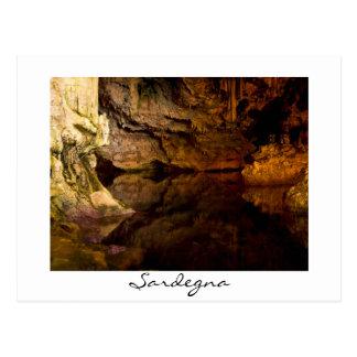 Neptun Grotte, Sardinien-Weißpostkarte Postkarte