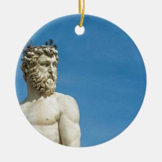 Neptun in Florence02 Rundes Keramik Ornament