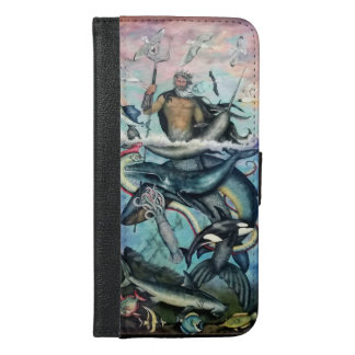 Neptun iPhone 6/6s Plus Geldbeutel Hülle