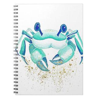 Neptun Krabbe Spiral Notizblock