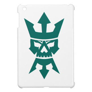 Neptun-Schädel-Trident-Bart und Kronen-Ikone iPad Mini Hülle