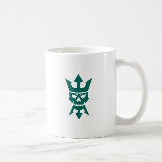 Neptun-Schädel-Trident-Bart und Kronen-Ikone Kaffeetasse