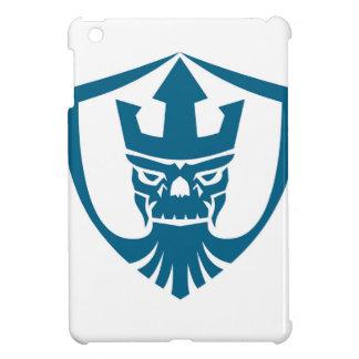 Neptun-Schädeltrident-Kronen-Wappen-Ikone iPad Mini Hülle