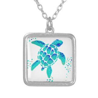 Neptun Schildkröte Versilberte Kette
