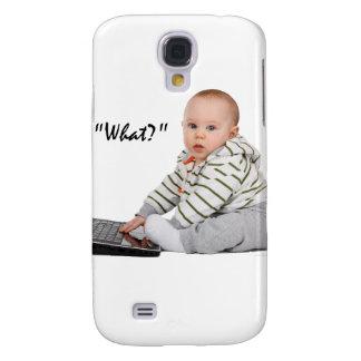 Nerd-Baby auf Laptop Galaxy S4 Hülle