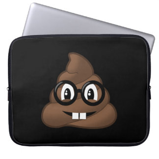 Nerd-Gläser kacken Emoji Laptopschutzhülle