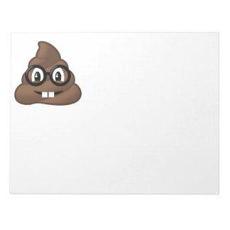 Nerd-Gläser kacken Emoji Notizblock
