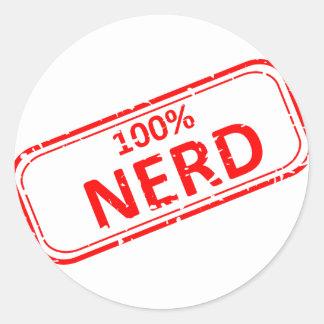 Nerd Gummi-Briefmarke 100% Runder Aufkleber