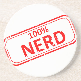 Nerd Gummi-Briefmarke 100% Untersatz