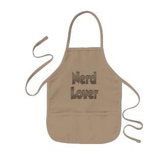 Nerd-Liebhaber-Grau Kinderschürze