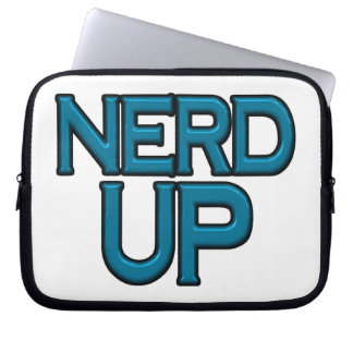 Nerd oben laptop sleeve
