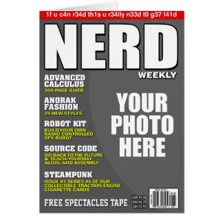 Nerd-personalisiertes Titelseite Karte