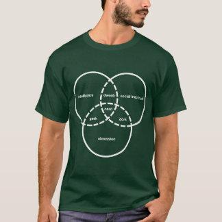 Nerd venn Diagramm Geek Dweeb-Depp T-Shirt
