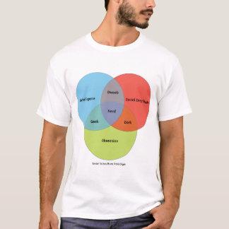 Nerd Venn Diagramm T-Shirt