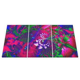Nerdberries psychedelisches Fraktal Leinwanddruck