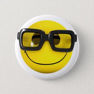 NerdGeek des smiley-3d Runder Button 5,1 Cm