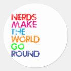 Nerds meke the world go round runder aufkleber